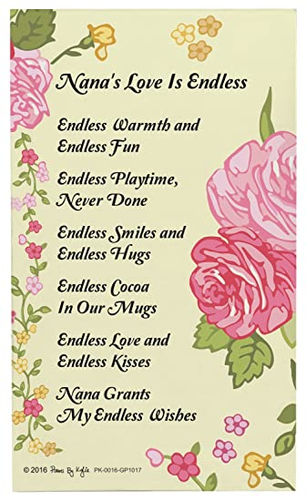 Amazon.com: Nana Gifts Frame Nana\'s Love is Endless Nana Poem ...