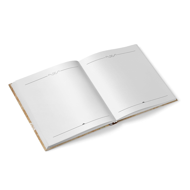 Livre dor Livre dor Livre invit/és dor de mariage carr/é Marron Vintage Cl/é Beige Blanc Nostalgie titre Fran/çais 21/x 21/cm Mariage Anniversaire anniversaire acier