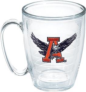Tervis 1048747 Auburn University Vault Emblem Individual Mug, 16 oz, Clear