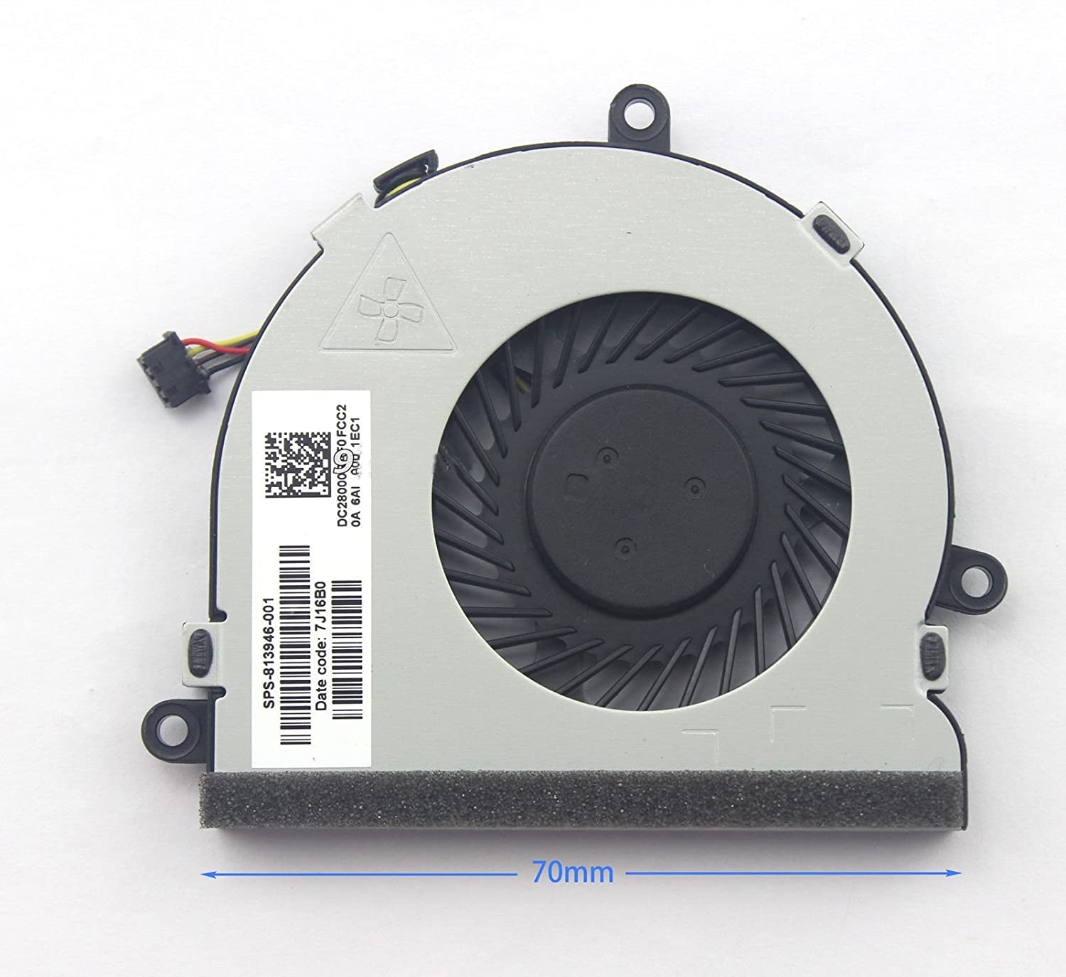 New Cpu Cooling Cooler Fan For Hp 15 Ba Ba008ca Notebook Ba004ax Ba009dx Ba010nr Ba013cl Ba138ca Ba140ca Ba113cl Computers Accessories
