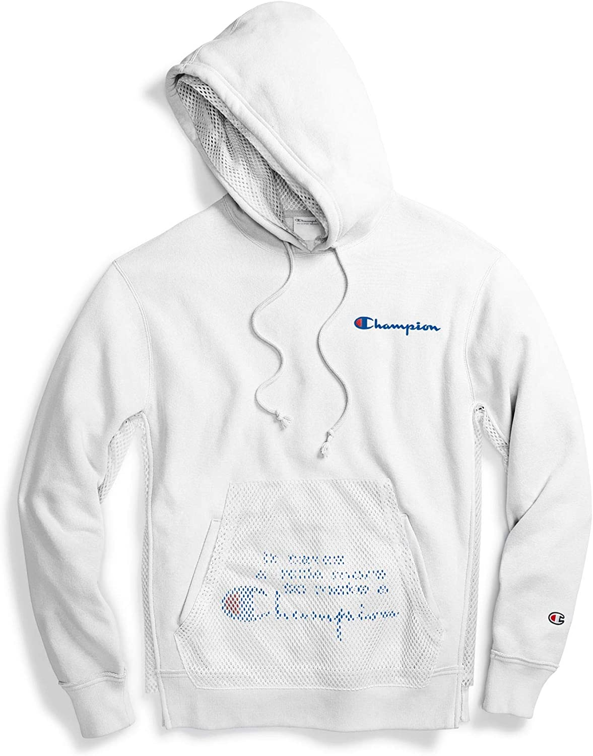 Champion Life Mens Reverse Weave Pullover Hoodie White S
