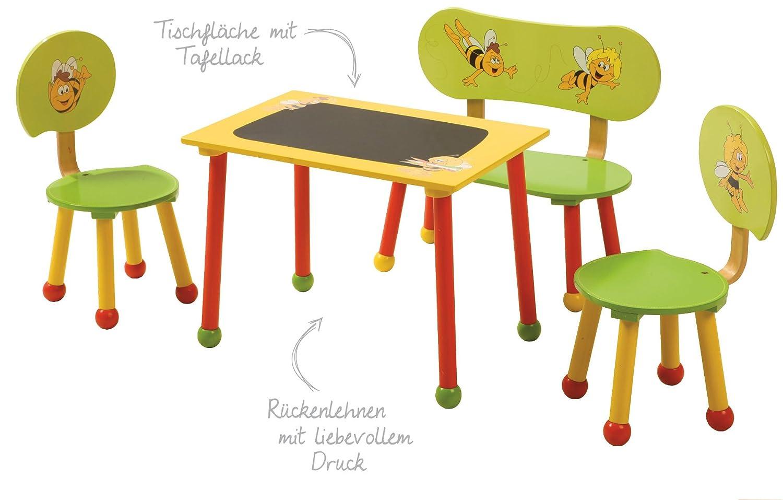 roba Sitzgruppe \'Biene Maja\', 1 Tisch, 2 Stühle für Kinder: Amazon ...