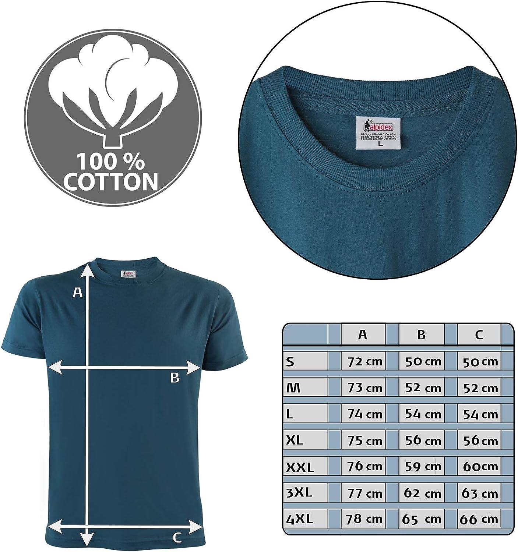 ALPIDEX T-Shirt da Uomo Confezione da 5 con Girocollo Taglie S M L XL XXL 3XL 4XL