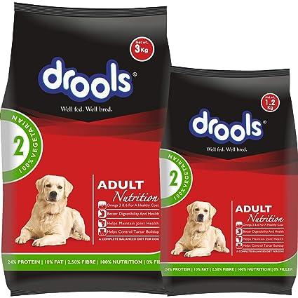 Drools 100 Vegetarian Adult Dry Dog Food 3 Kg 1 2 Kg Free Amazon In Pet Supplies