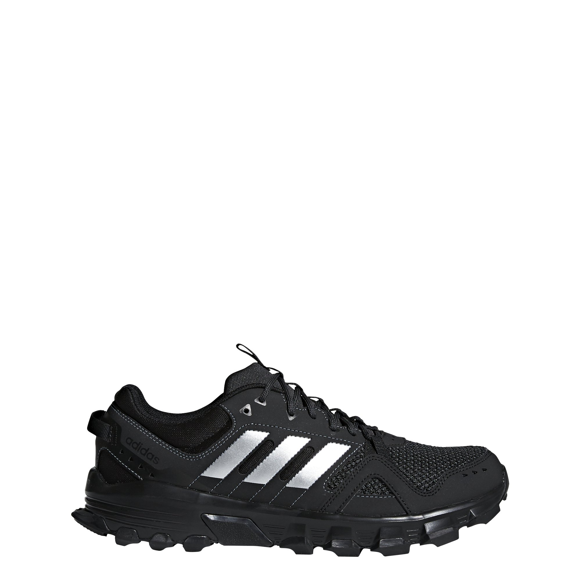 adidas Men's Rockadia m Trail Running Shoe, Core Black/Matte Silver/Carbon, 11 M US