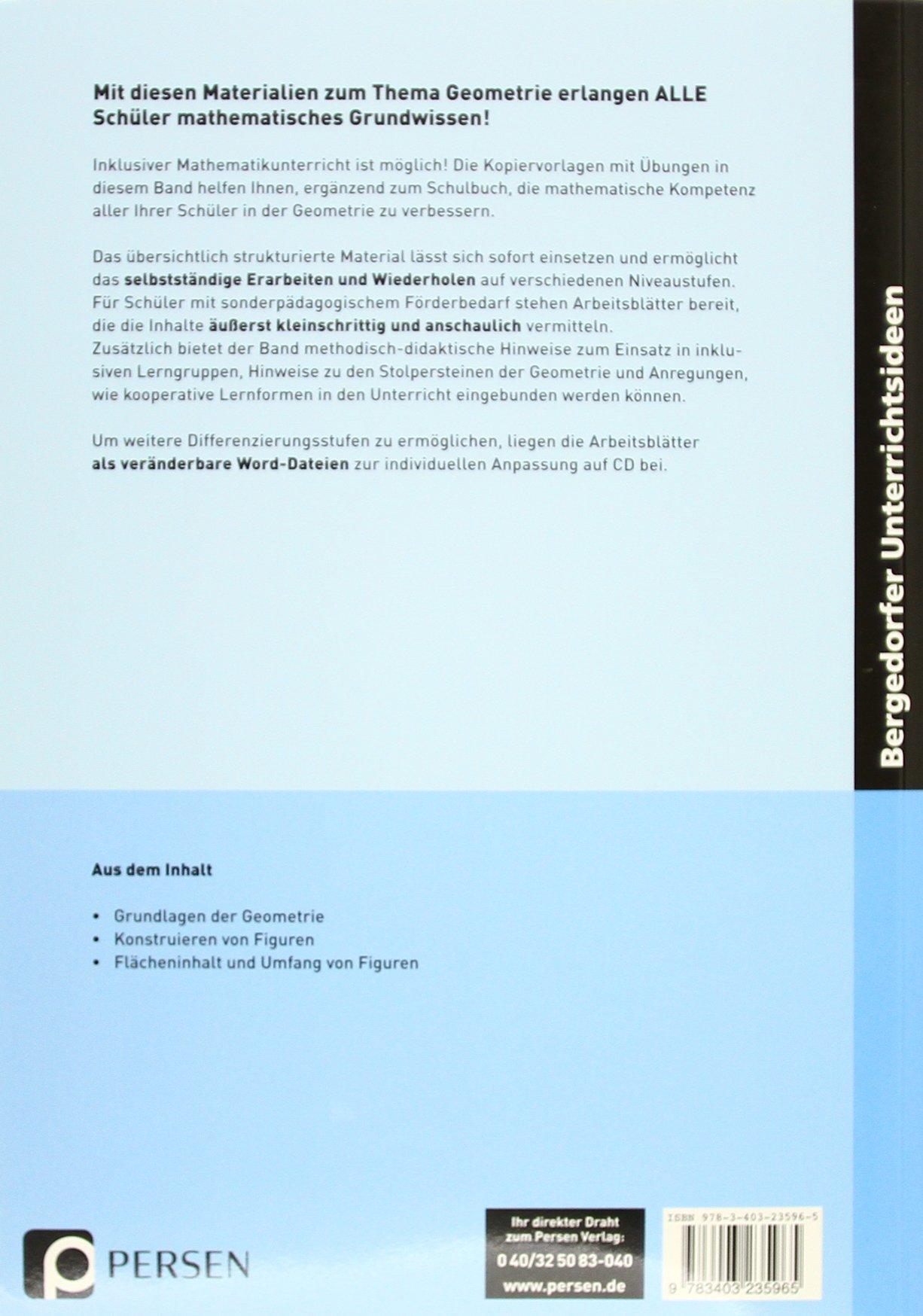 Geometrie - Inklusionsmaterial: 5. bis 10. Klasse Grundwissen ...
