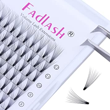 a8c5eafeee0 Volume Lash Extensions Premade 10D C Curl 0.10mm 8~14mm Mixed Tray Individual  Lashes