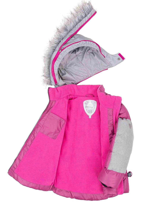 Sizes 4-12 Deux par Deux Girls Short Puffer Jacket in Fuchsia