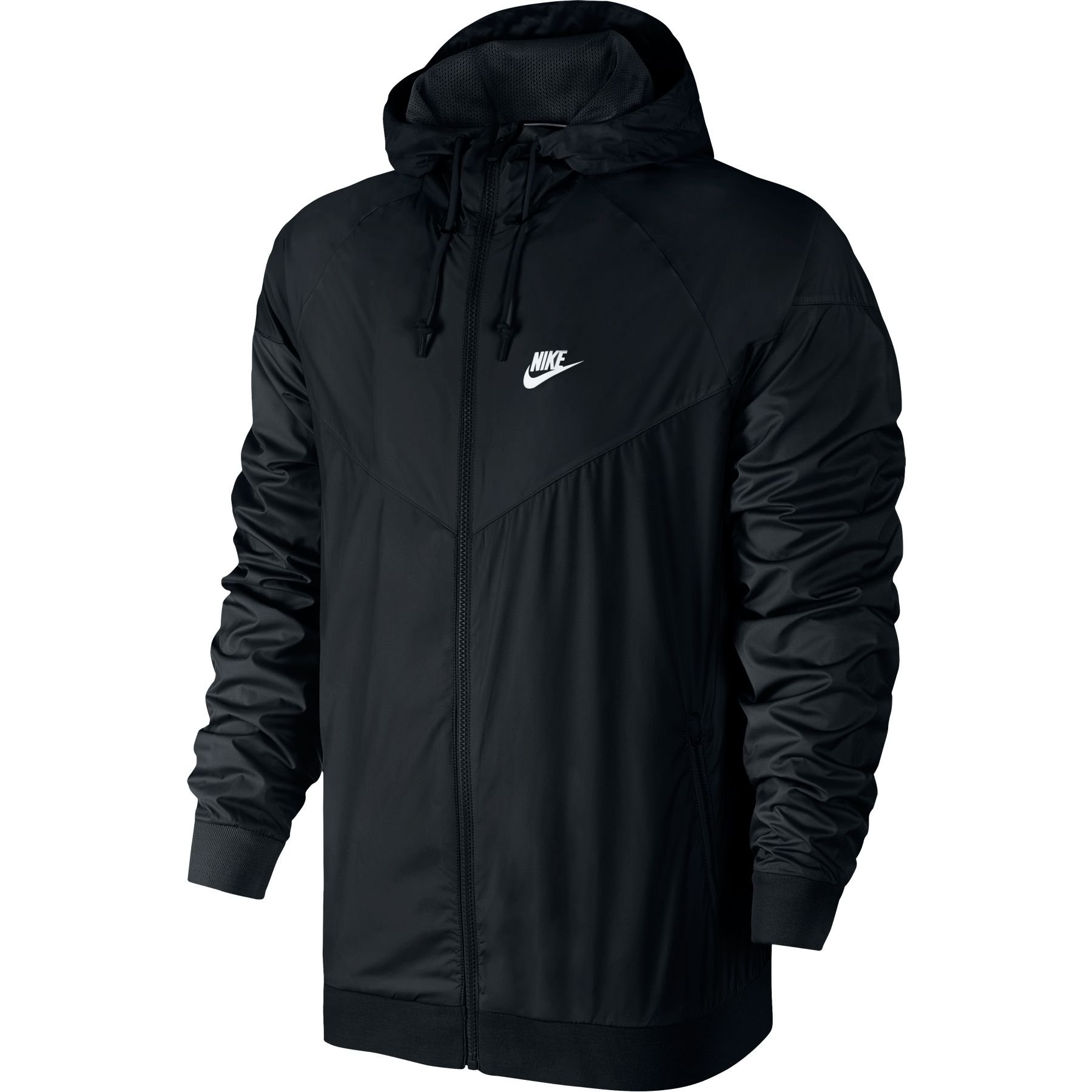 Nike Mens Windrunner Hooded Track Jacket Black/Black/White 727324-010 Size X-Large by Nike