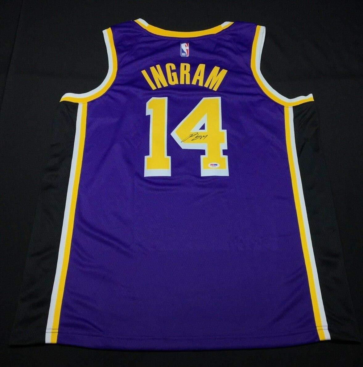 buy popular 8907b c0cd7 Brandon Ingram Autographed Signed Authentic Los Angeles ...