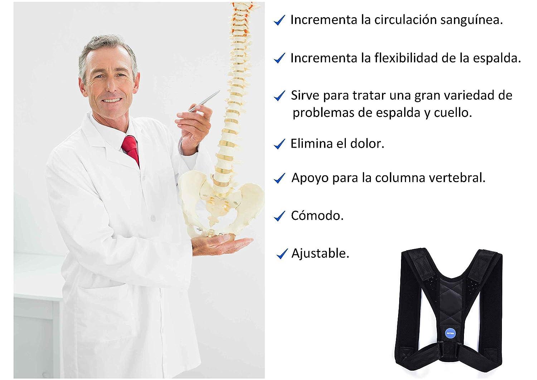 Corrector de Postura para Hombre y Mujer, Chaleco Postural Espalda Recta   Faja Lumbar Ortopédica, Alivia Dolor de Cervicales, Ajustable, Fácil de Colocar, ...