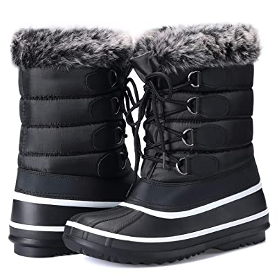 mysoft Women's Waterproof Winter Boots, Warm Insulated Snow Boots for Outdoor | Snow Boots