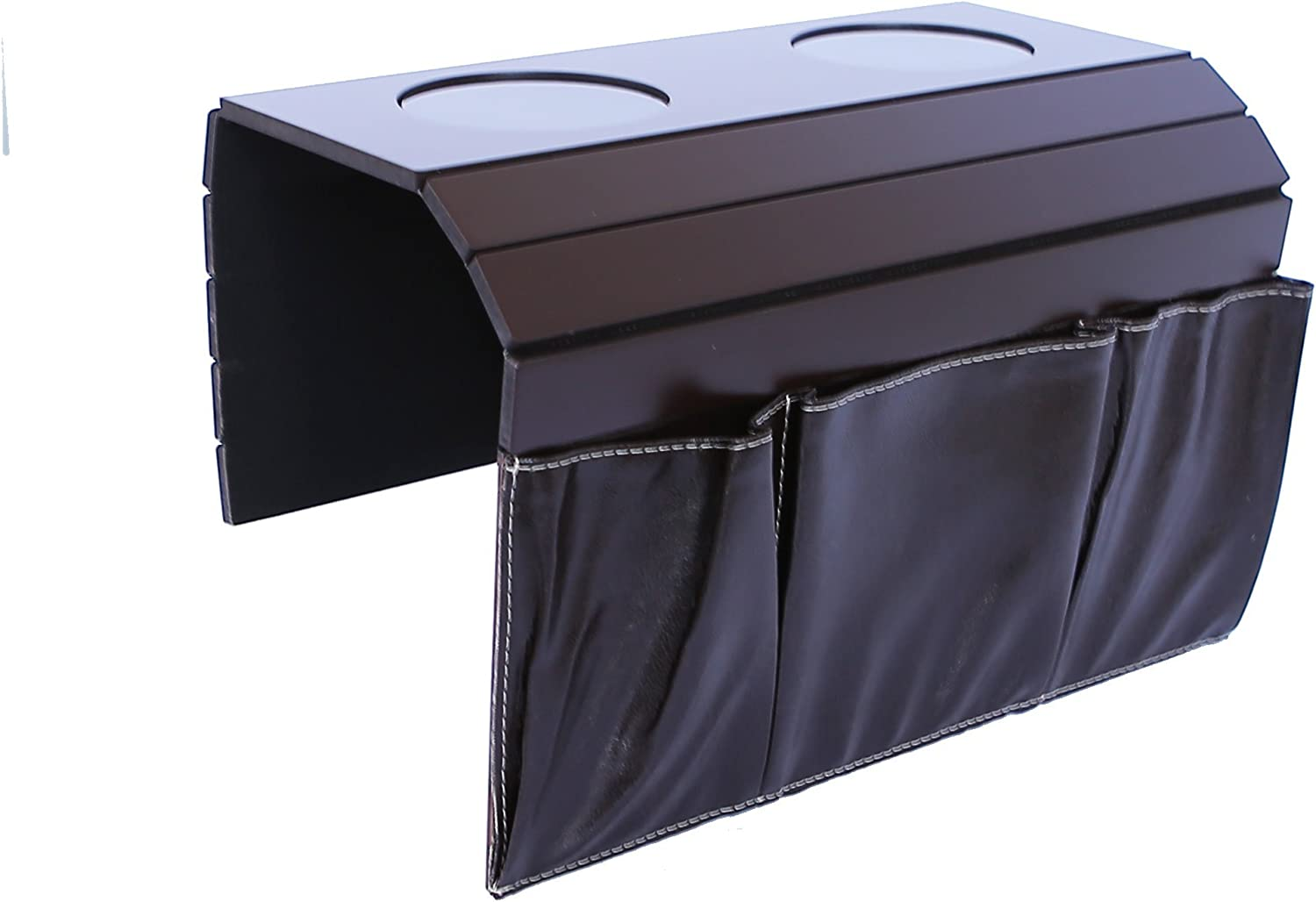 Sofa Couch Arm Tray Table. Remote Control and Cellphone Organizer Holder, Arm Rest Organizer, Arm Rest Table with Pockets