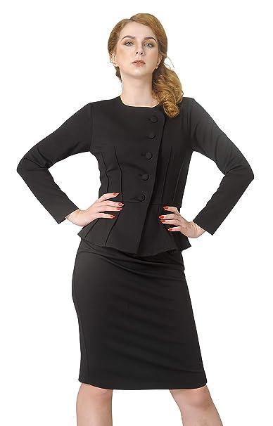 Amazon.com: Marycrafts Camisa formal, chaqueta y falda de ...