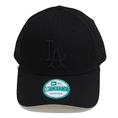 New Era 9forty Adjustable LA Dodgers League Black On Black Hat Cap ... ed90cc01235