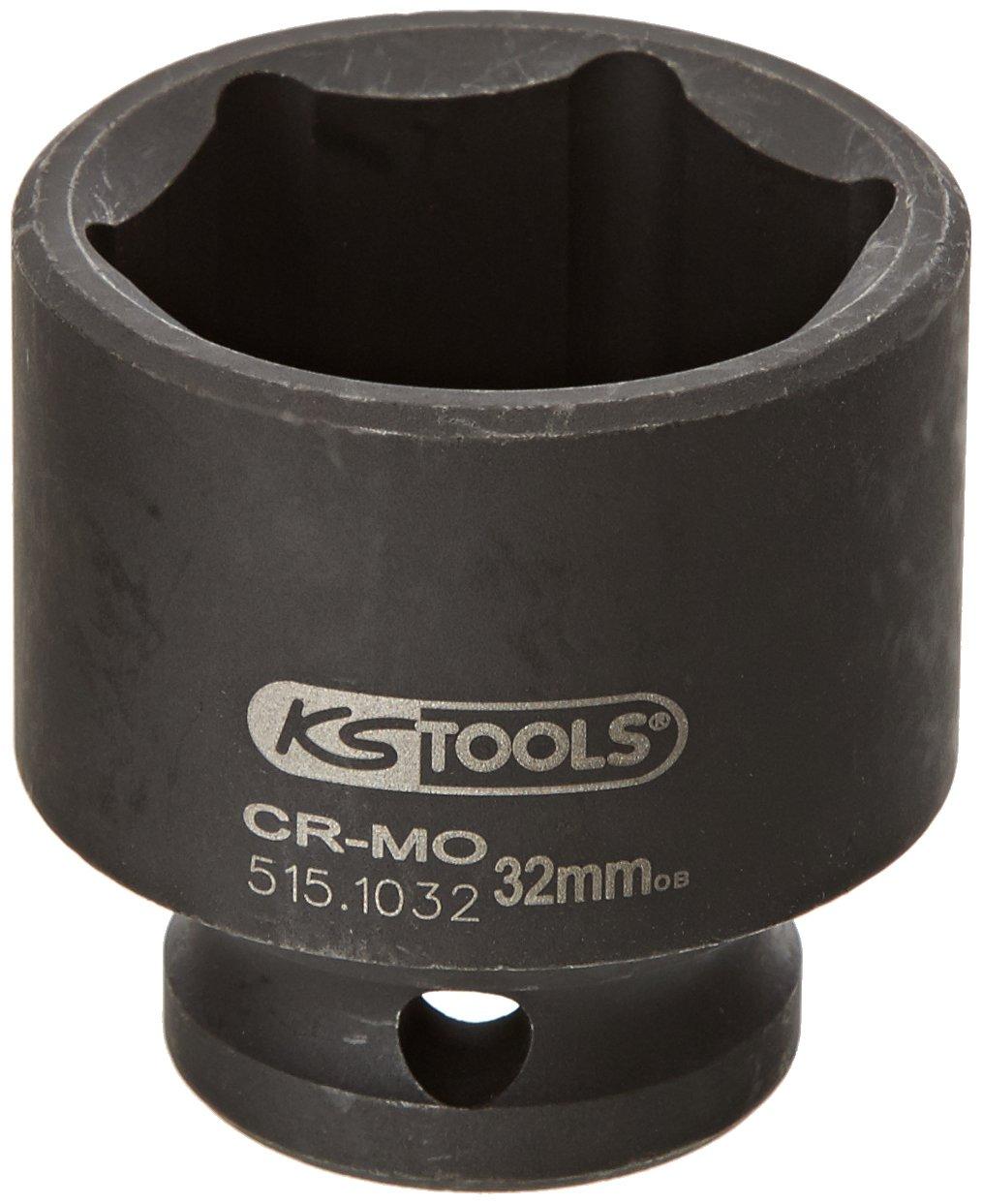 kurz 32mm KS Tools 515.1032 1//2 Sechskant-Kraft-Stecknuss