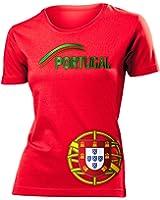 FUSSBALL EM 2016 - PORTUGAL FANSHIRT T-Shirt Damen S-XXL