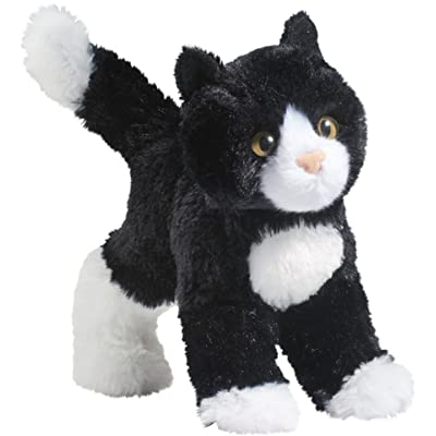 Douglas Snippy Black & White Cat Plush Stuffed Animal: Toys & Games