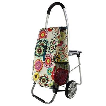GY Carretilla portátil ~ Con el taburete del asiento Carro de la compra Viejo Hombre Comprar ...