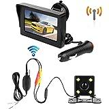 OBEST - Cámara de seguridad inalámbrica para coche, 4,3 pulgadas, plegable, LCD, TFTMonitor, cámara de visión trasera, visión nocturna, IP67 resistente al agua