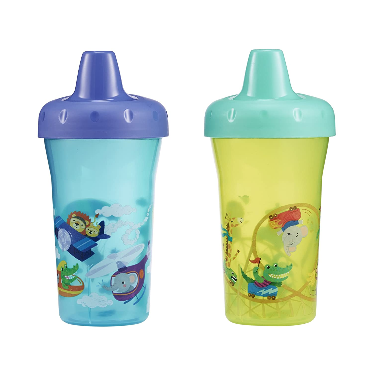 The First Years Simple Sippy Cup - 9oz, 2 pack, Orange and Green by The First Years   B00R63HSUO