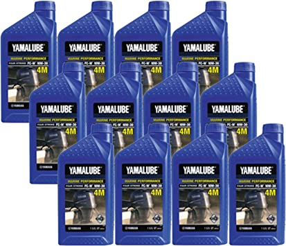 Amazon.com: Yamaha 4-Stroke Engine Oil Case of (12) Quarts: Automotive
