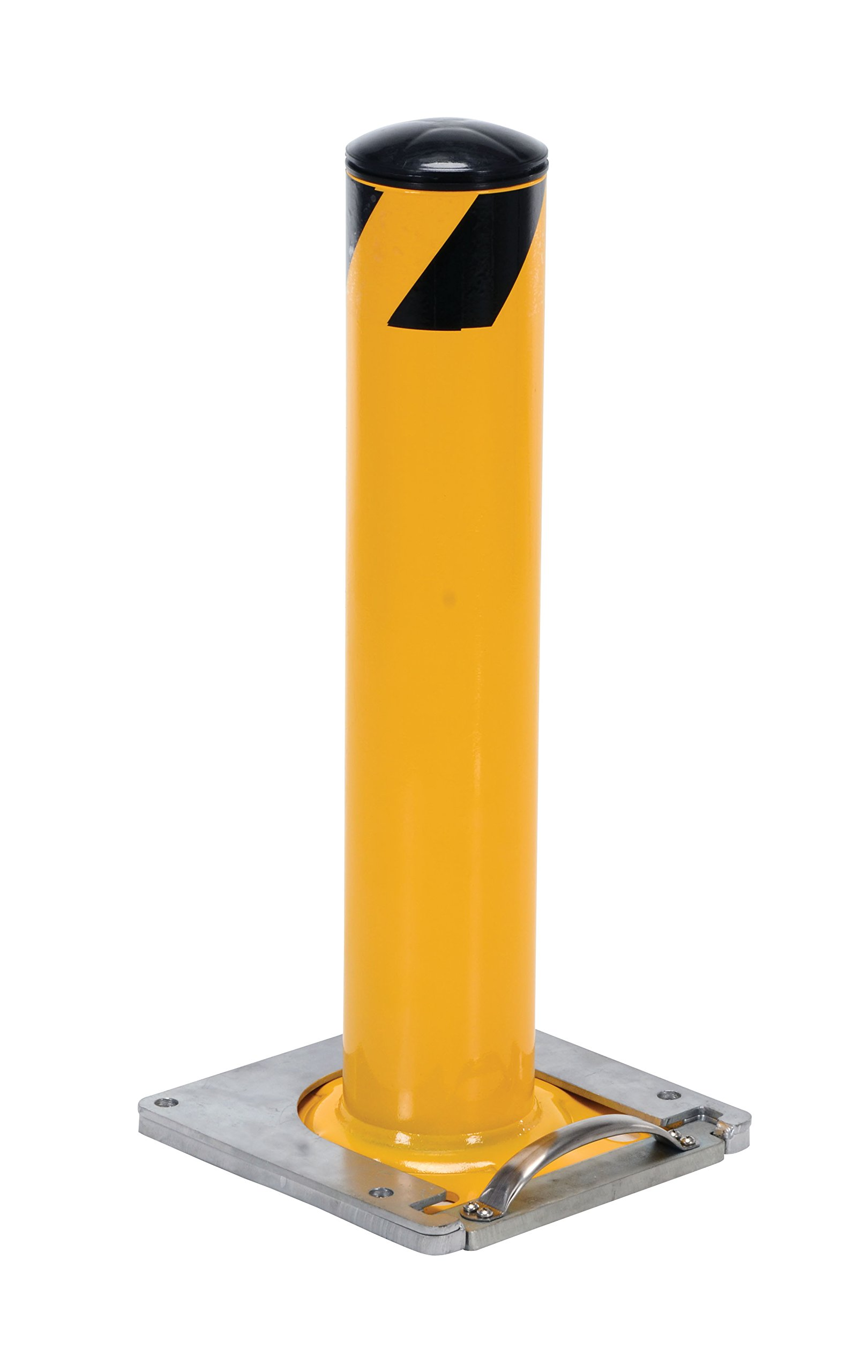 Vestil BOL-RF-36-4.5 Surface Mounted Removable Steel Pipe Safety Bollard, 4-1/2'' OD, 36'' Height