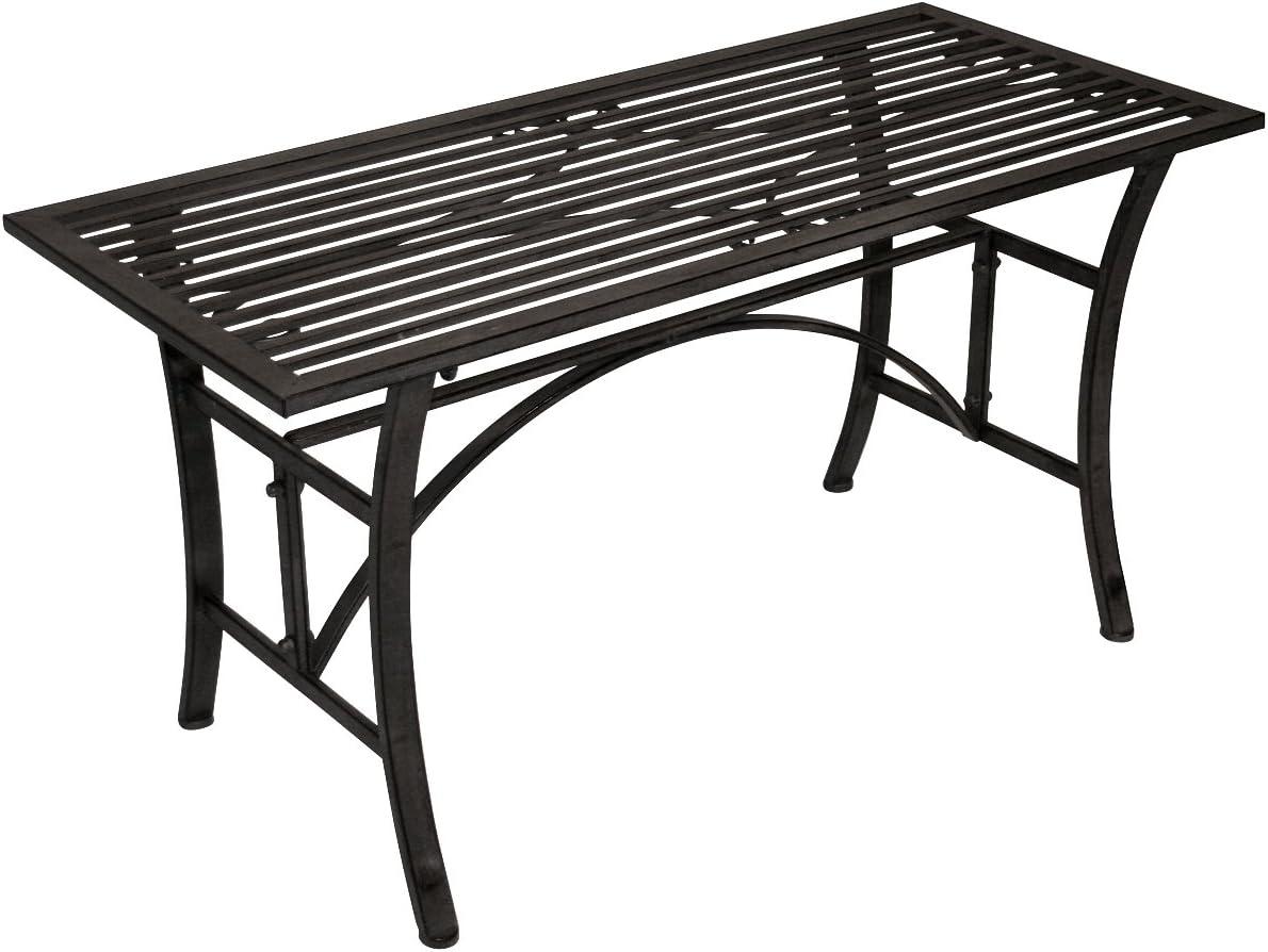 Bentley Garden - Mesa de centro de hierro forjado para jardín y terraza - Gris: Amazon.es: Jardín