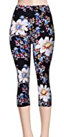 VIV Collection Print Brushed Capri Cropped Leggings (Sizes XS - 2XL) Listing 1