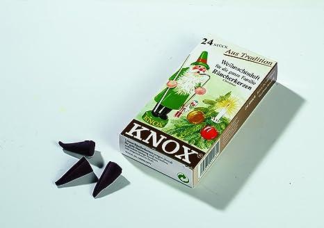 Amazon.com: KNOX Conos de incienso perfumados de Navidad, 24 ...