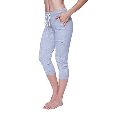 4-rth Womens 3/4 Cuffed Capri Yoga Pant