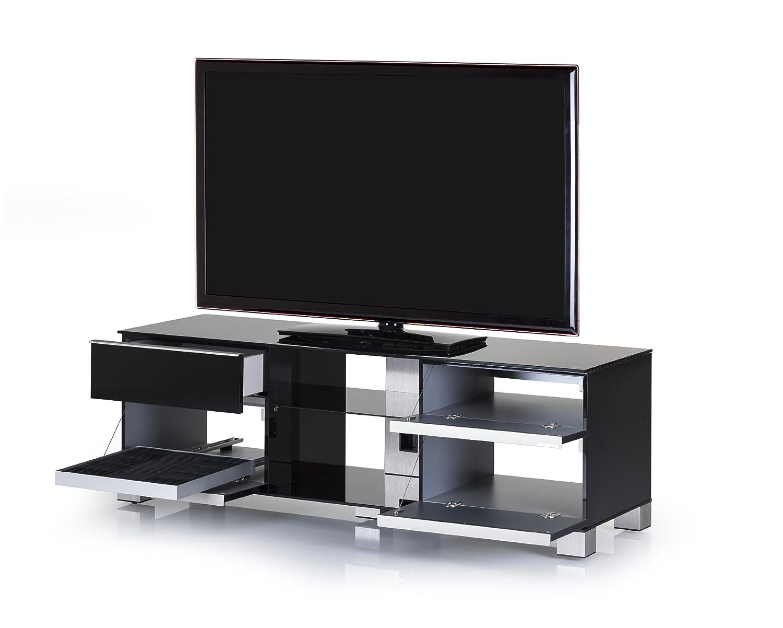 Sonorous Md 9340 B Inx Blk Meuble Tv Pour T L Vision Jusqu 65  # Meuble Tv Declikdeco