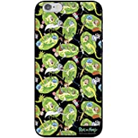Capa Celular Portais Rick and Morty Iphone 6/6S, Beek Geek's Stuff, Capa Protetora Flexível, Preta