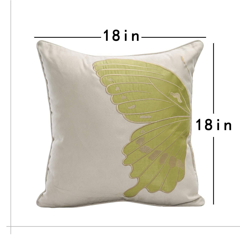 Amazon.com: CO-AVE Funda de almohada de terciopelo bordado ...