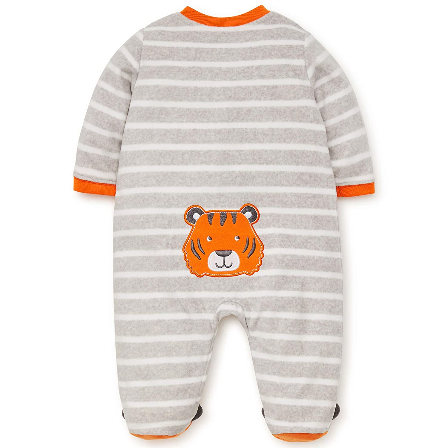 Amazon.com: Little Me Winter Fleece Baby Pajamas Footed Blanket Sleeper Footie Orange Tiger 24 Month: Baby
