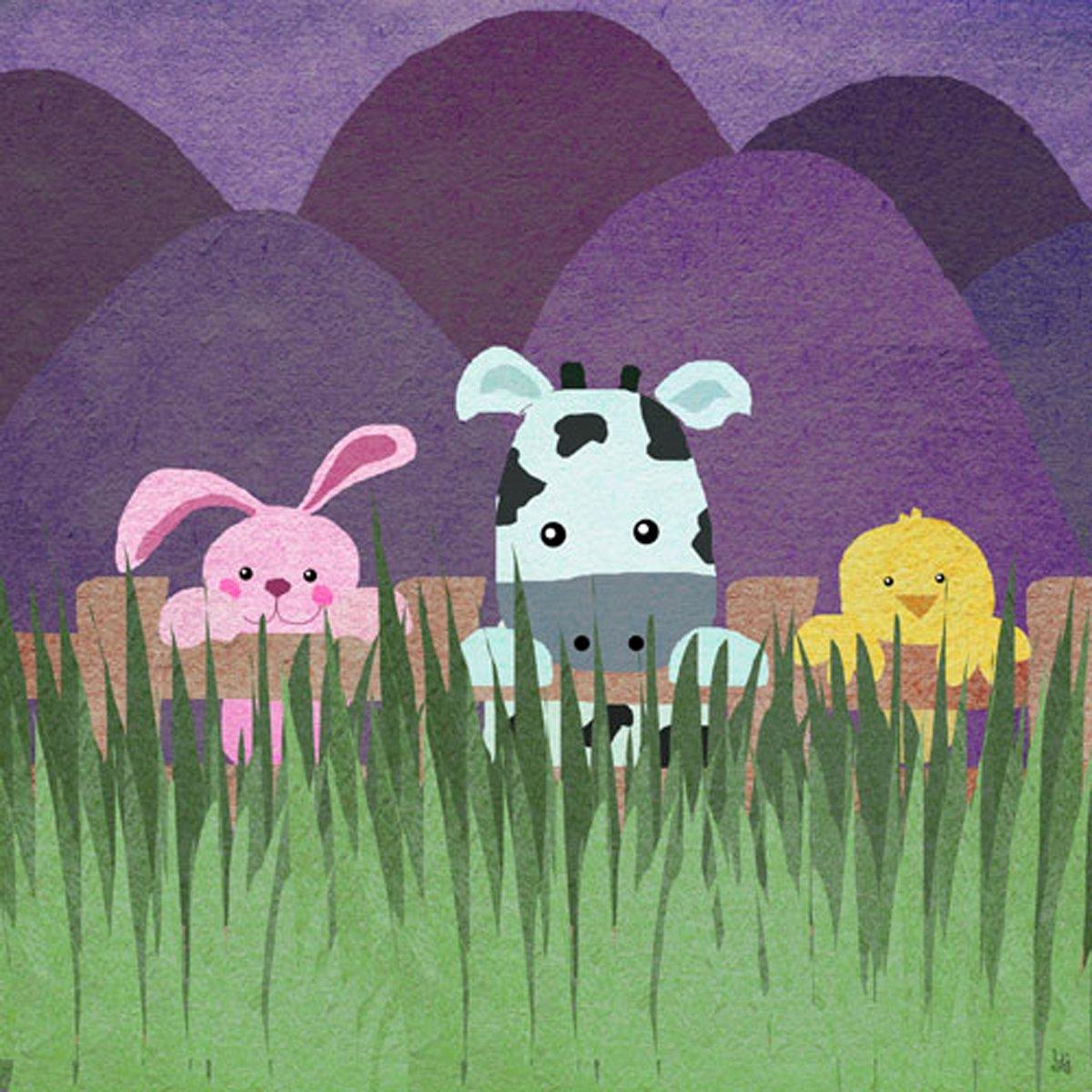グリーンリーフアートファームLittle Animals Iキャンバスアート   B00O5E7FAA