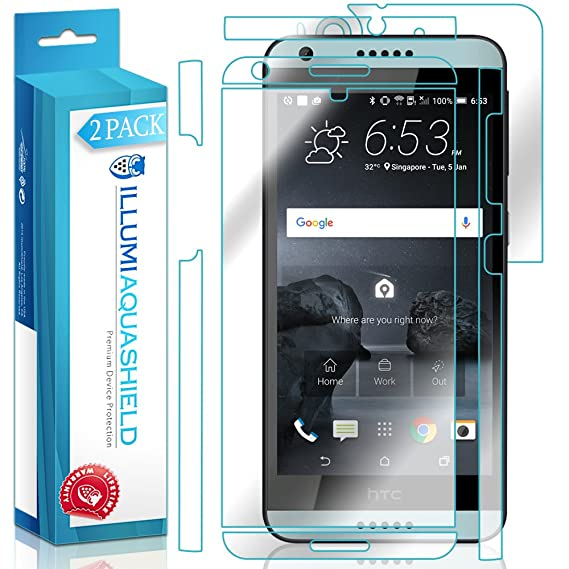 low priced fe4d5 1784e Amazon.com: HTC Desire 650 Screen Protector + Back Cover [2-Pack ...