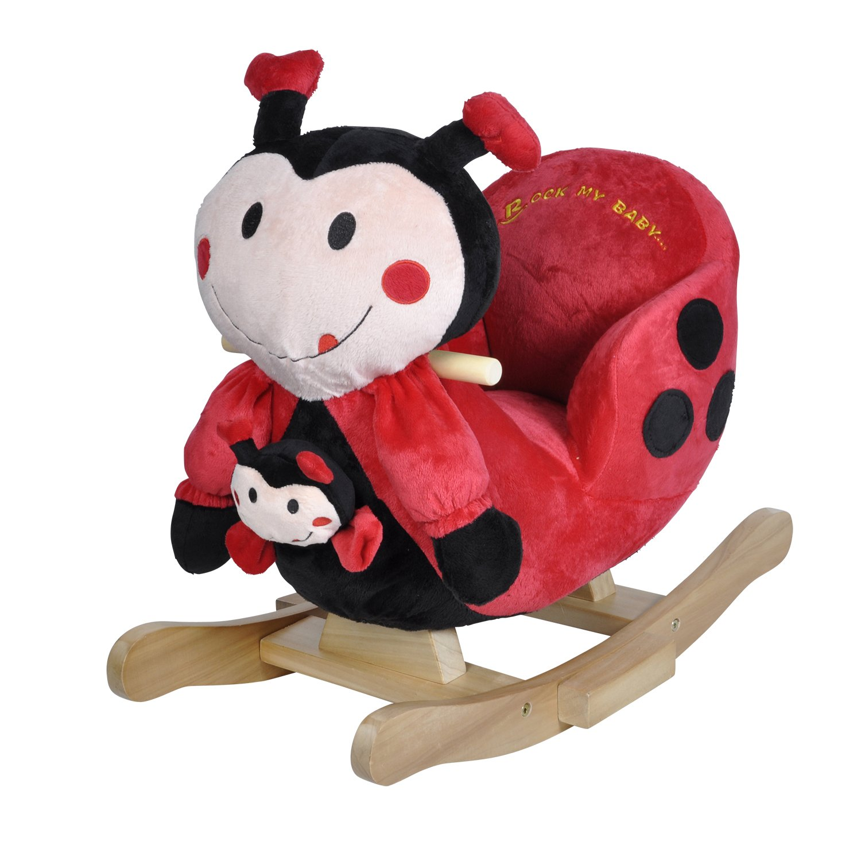 Knorrtoys 40357 - Schaukeltier Ladybug Marie mit Sound inklusive Handpuppe knoortoys_40357