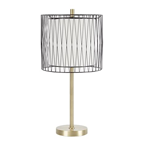 Silverwood lt1045 roxie table lamp with wire cage accent 23 h silverwood lt1045 roxie table lamp with wire cage accent 23quot greentooth Image collections