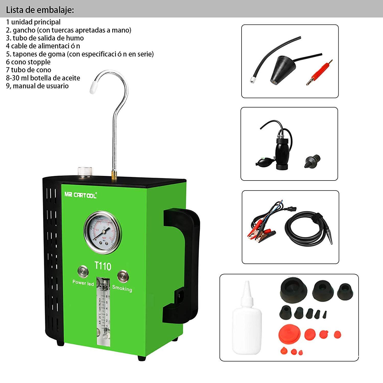 MRCARTOOL T110 Detector de Fugas para Coche, Detector de Fugas de Combustible para vehículos, Motocicletas y Barcos, Modo Dual: Amazon.es: Coche y moto