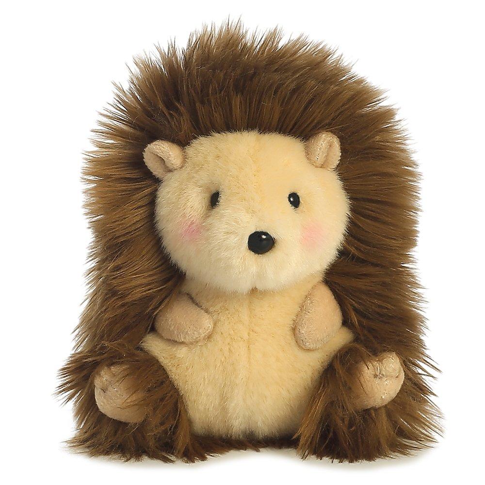 Aurora World Happy Rolly Pets-Peluche a forma di riccio beige//marrone//rosa colore