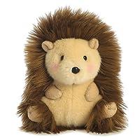 Aurora World Happy Rolly Pets-Peluche a forma di riccio, colore: beige/marrone/rosa