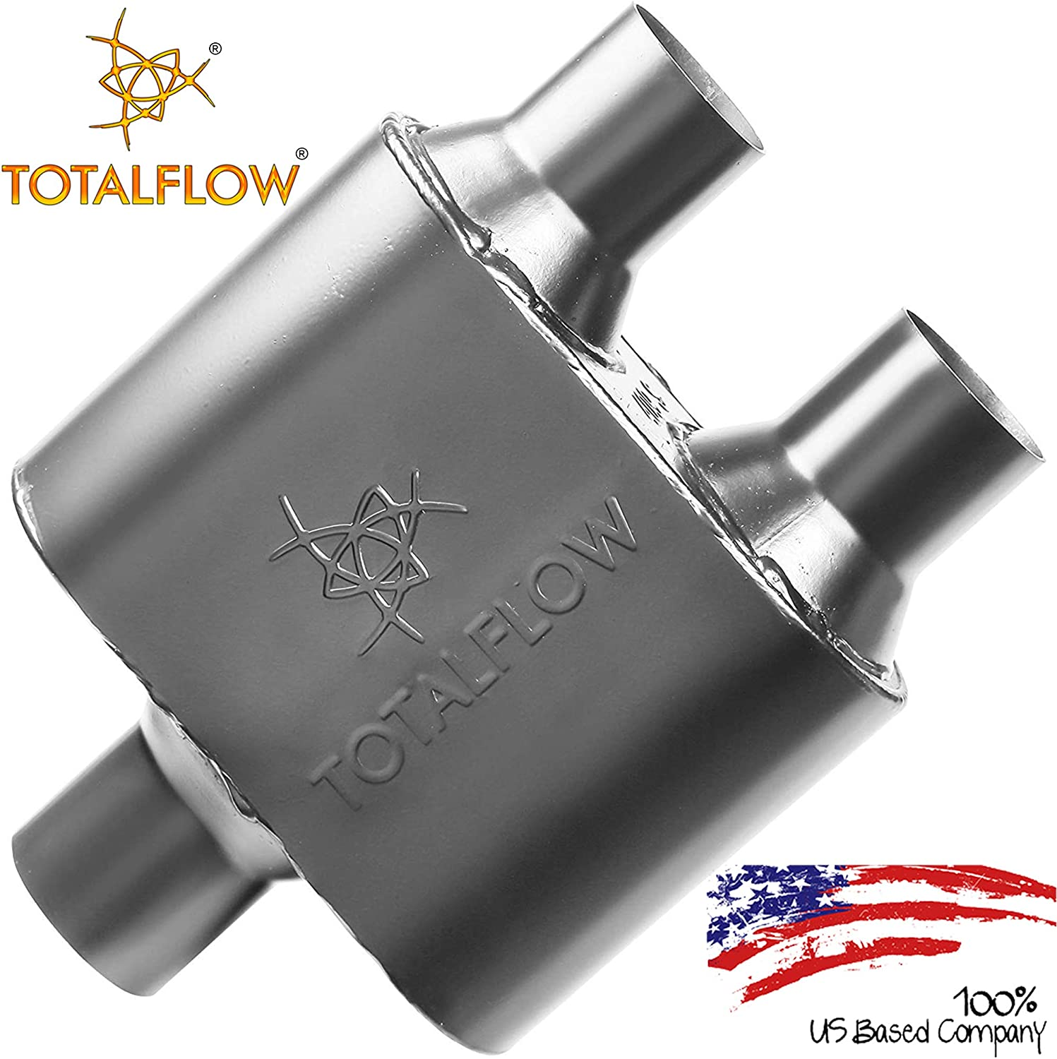 """Flowmaster 8425152 Universal Super 10 Muffler 2.5/"""" Center In//2.25/"""" DUAL Out"""