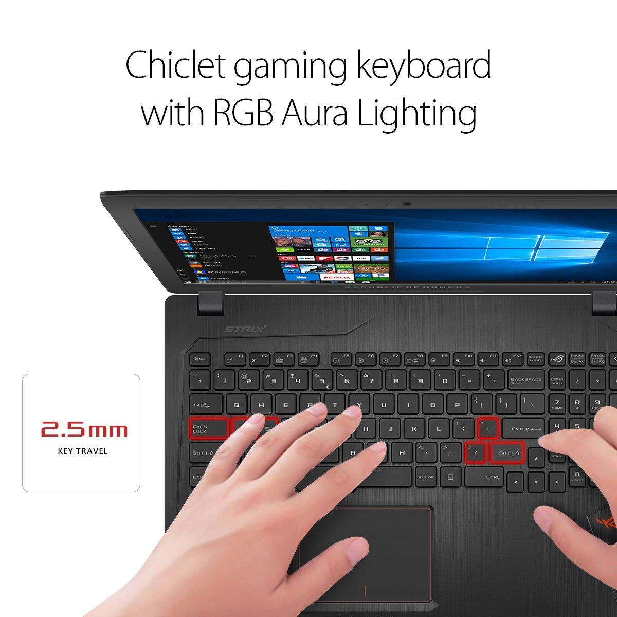 Laptops Asus Rog Strix Gl553vd 156 Gaming Laptop Gl553 Ve Nvidia Gtx 1050 4gb Intel Core I7 7700hq 16gb Ddr4 1tb 7200rpm Hdd Rgb Keyboard