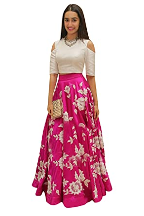 d63f103317 Dwarkesh Fashion Women's Taffeta Silk Embroidered Semi-Stitched Lehenga  Choli with Net Dupatta (Pink, Free Size): Amazon.in: Clothing & Accessories