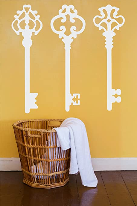 Amazon.com: Antique Skeleton Keys Wall Home Decor Stickers - Vintage ...