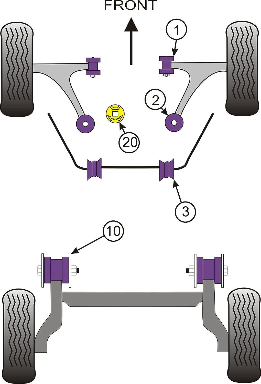 Boccola braccio anteriore posteriore Powerflex PFF16-502