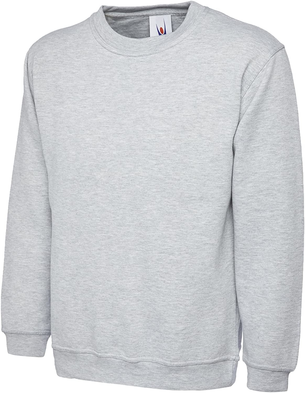Large Charcoal Uneek 300g Plain Classic Crewneck Sweatshirt