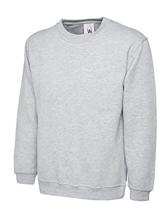 Uneek 300g Plain Classic Crewneck Sweatshirt  Amazon.co.uk  Clothing d83db2ba2f0f