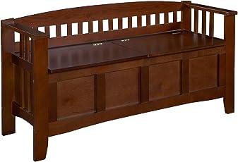 Premium Storage Bench Furniture Seat Patio Deck or Garden Seating in Wood Outdoor Design  sc 1 st  Amazon.com & Outdoor Storage Benches | Amazon.com